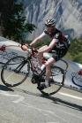 Brad climbing Alpe d'Huez.