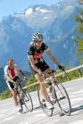 Sam climbing Alpe d'Huez.