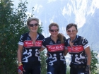 Suzie, Nat and Jan at the Tour De France.