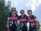 Suzie, Nat and Jan at the Tour De France.